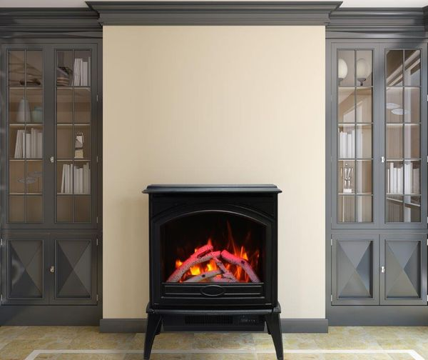 Sierra Flame 50 Cast Iron Freestanding, Cast Iron Electric Fireplace Stove