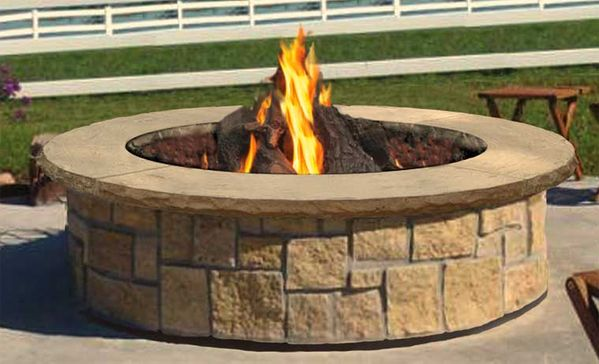 Stone Age Manufacturing 48 Inch Large Round Outdoor Fire Pit Kit