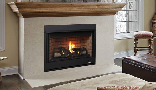 Superior Drt2035 Merit Series 35 Top Vent Fireplace With Aged Oak