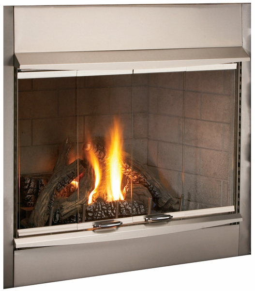 Superior Vantage Hearth 42 Inch Stainless Steel Outdoor Fireplace