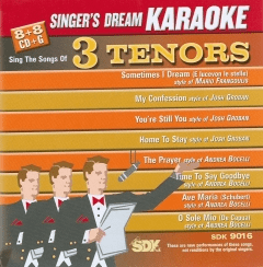 3 TENORS      Singer's Dream Karaoke      9016