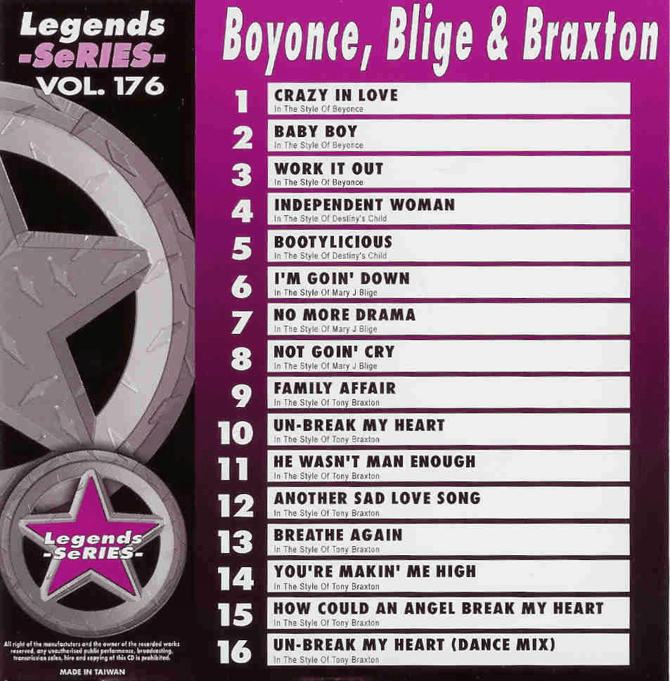 BEYONCE  BLIGE & BRAXTON    Legends Series   LG 176