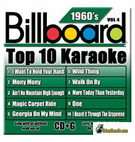 BILLBOARD 1960'S TOP 10 KARAOKE VOL.4   Party Tyme Karaoke    SYB 1964