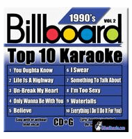 BILLBOARD 1990'S TOP 10 KARAOKE VOL.2     Party Tyme Karaoke    SYB 1992