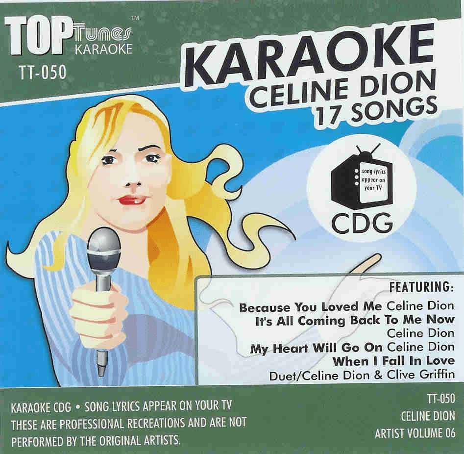 CELINE DION 17 SONGS Vol. 06    Top Tunes  TT 050