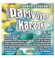 COUNTRY LEGENDS   Party Tyme Karaoke  SYB 1048