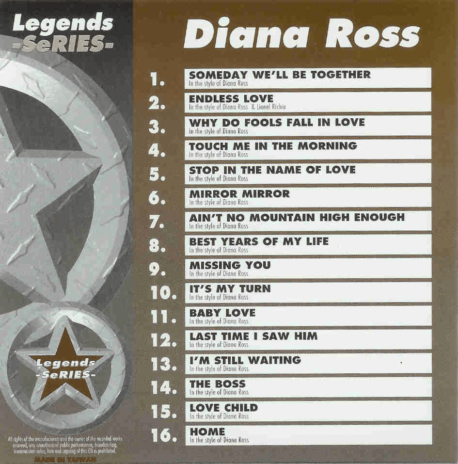 DIANA ROSS   Legends Series  071