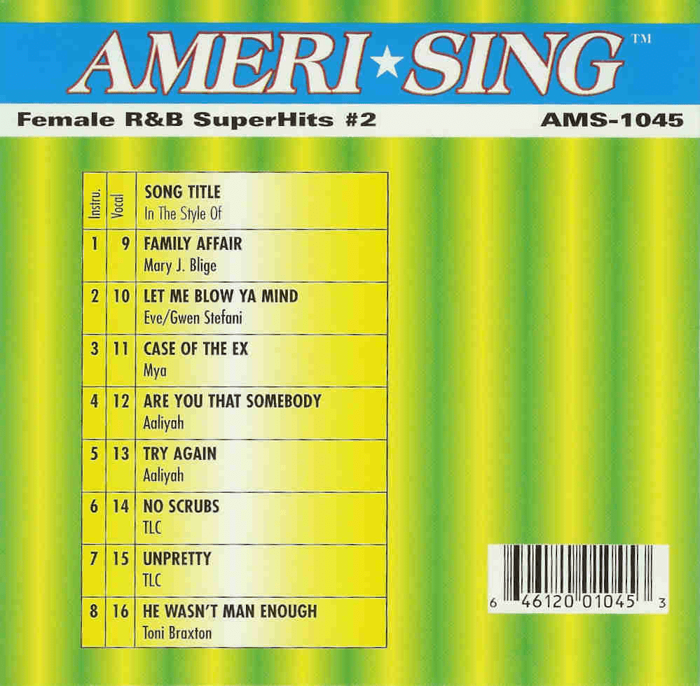 FEMALE R&B SUPERHITS #2  Ameri*sing AMS 1045