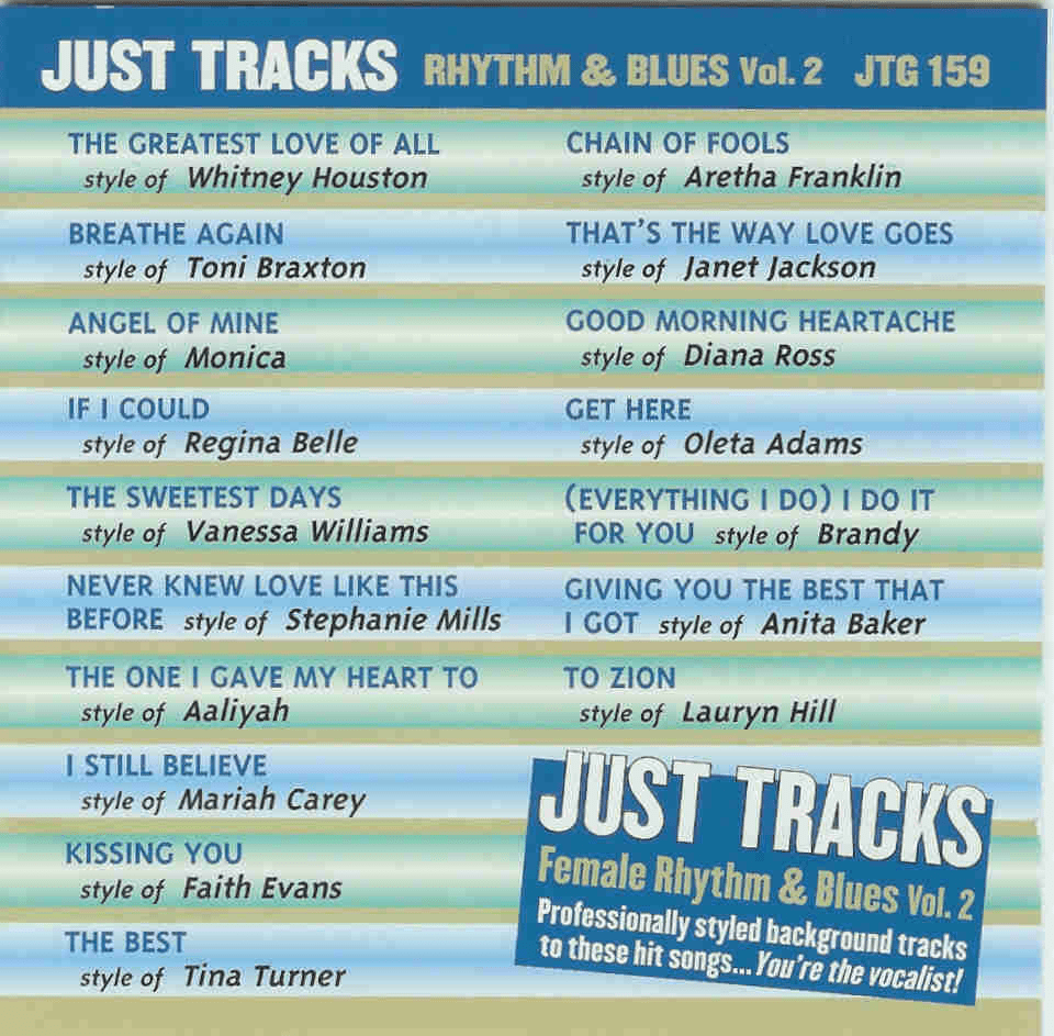 FEMALE RHYTHM & BLUES Vol. 2      Just Tracks     JTG159