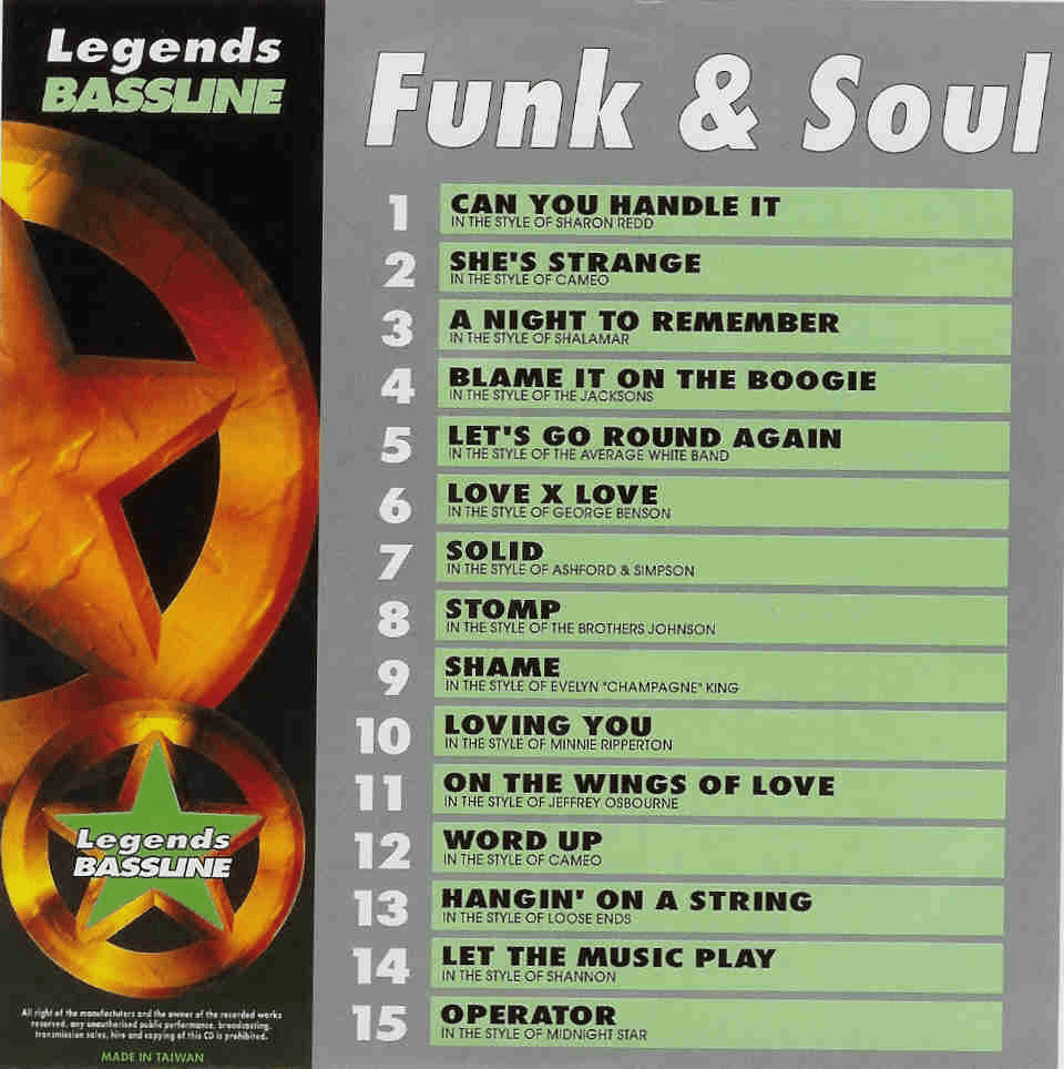 FUNK & SOUL     Legends Bassline 2    LB0024