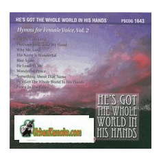 HE'S GOT THE WHOLE WORLD IN HIS HANDS FEMALE Vol. 2   Pocket Songs  PS1643