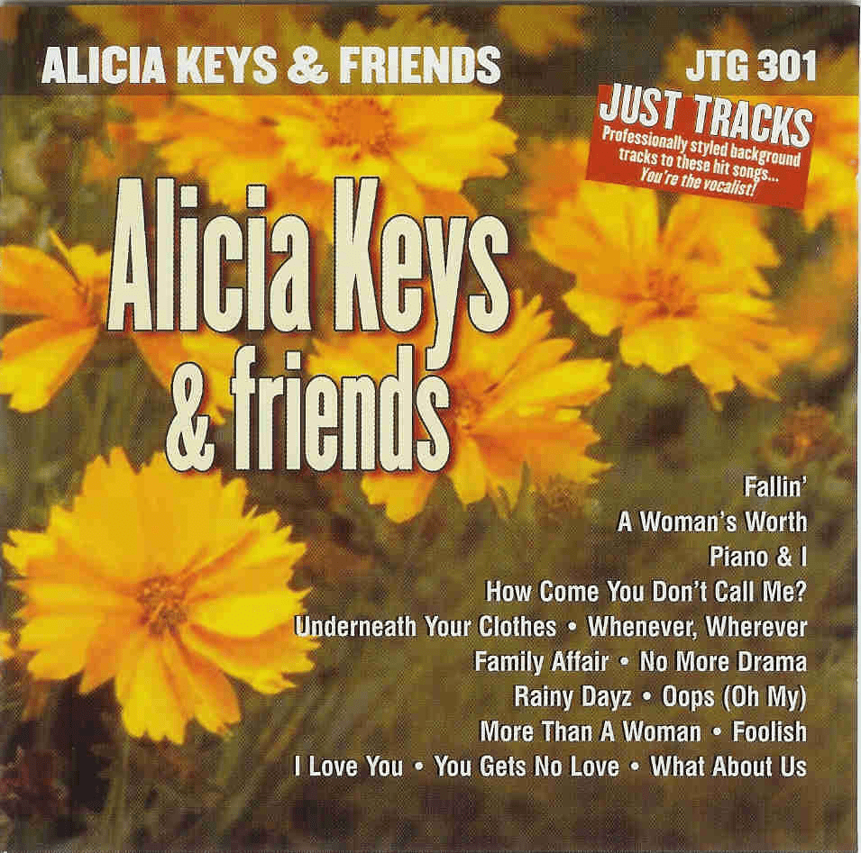 HITS OF ALICIA KEYS & FRIENDS    Just Tracks  JTG 301