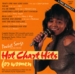 HOT CHART HITS FOR WOMEN    Pocket Songs   PSCD  1097