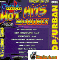 HOT HITS MONTHLY   POP/URBAN   NOVEMBER 2008   ChartBuster   CB 30080M