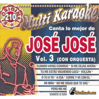 JOSE JOSE Vol. 3    Multi Karaoke   MK 210
