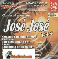 JOSE JOSE Vol. 4    Latin Stars  LAS 342