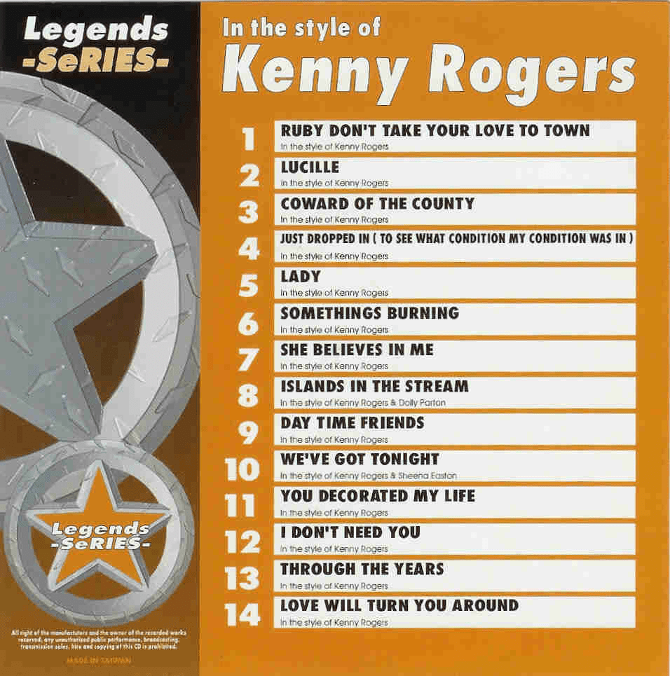 KENNY ROGERS    Legends Series   LG  021