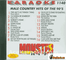 MALE COUNTRY HITS OF THE 90'S     Monster Hits   MH 1140