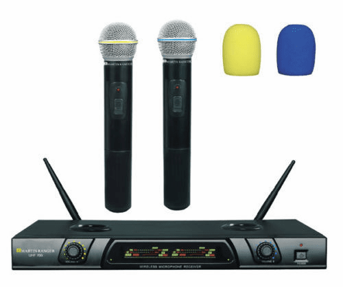 Martin Ranger UHF-700 Rechargeable UHF Dual Wireless Microphone, AC/DC 110-240V
