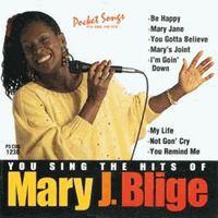 "MARY J. BLIGE    Pocket Songs  PS1230  <font color=""red"">(No On Screen Lyrics Music Only)</font>"