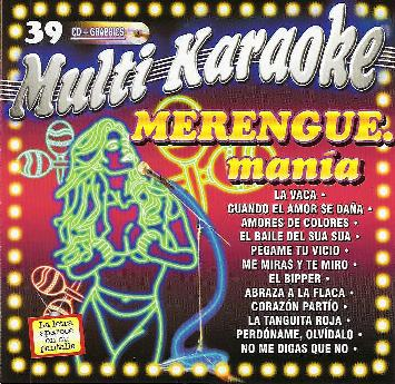 MERENGUE MANIA   Multi Karaoke  MK 39