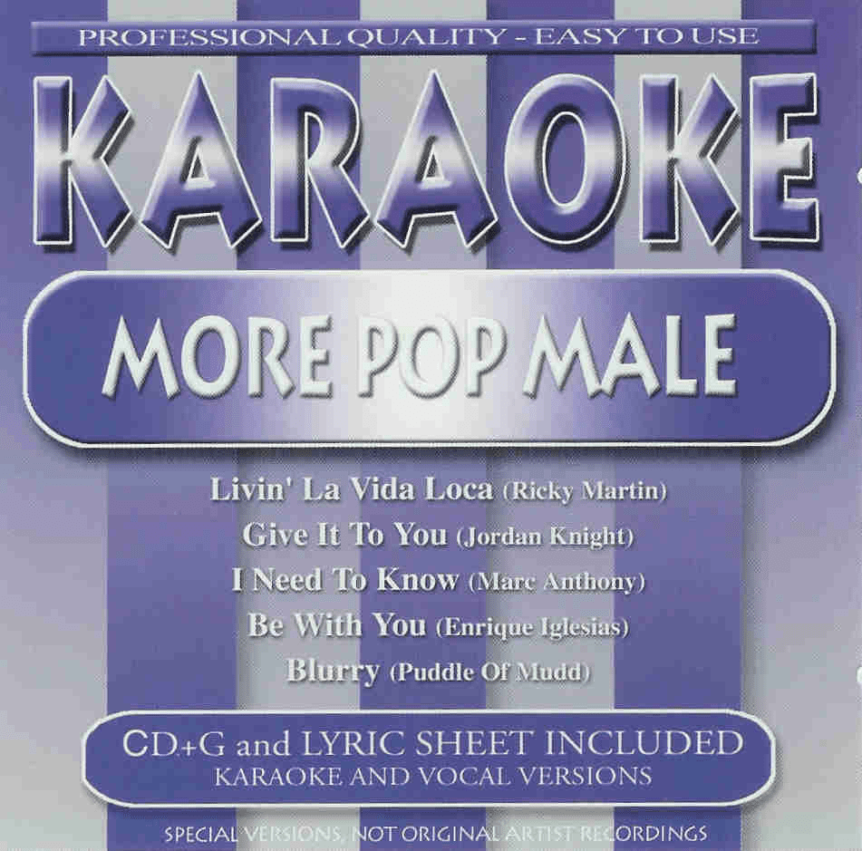 MORE POP MALE    Karaoke  40292