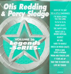 OTIS REDDING & PERCY SLEDGE     Legends Series   CDG LG 036