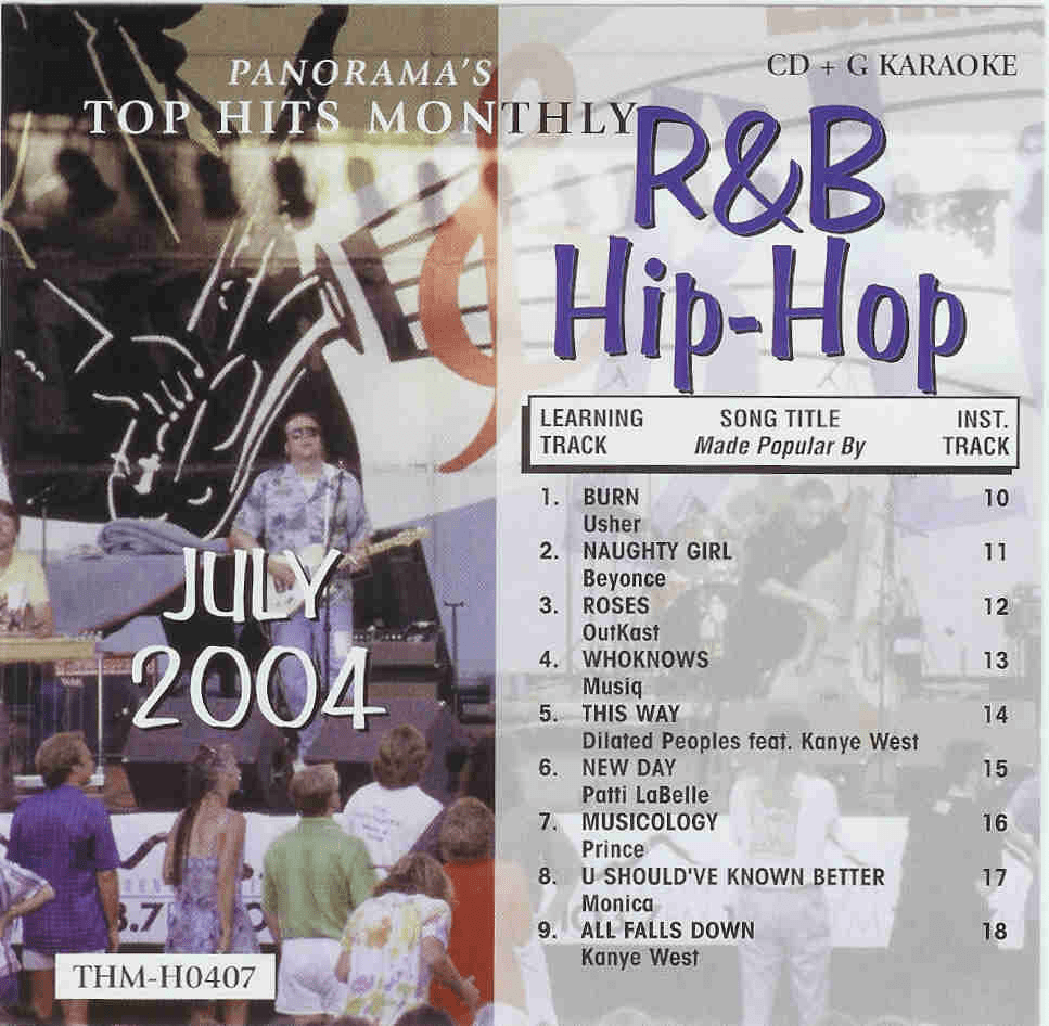 R&B/HIP-HOP JULY 2004 TOP HITS MONTHLY CDG