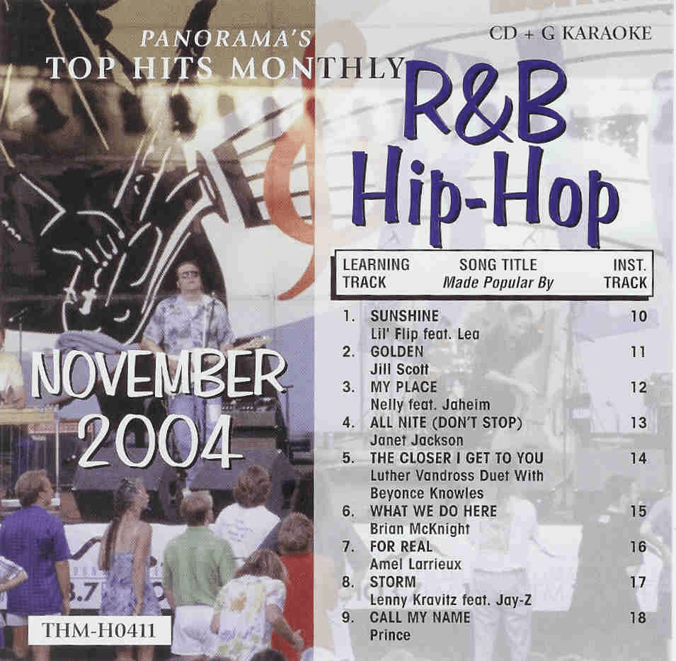 R&B/HIP- HOP NOVEMBER 2004 Top Hits Monthly CDG