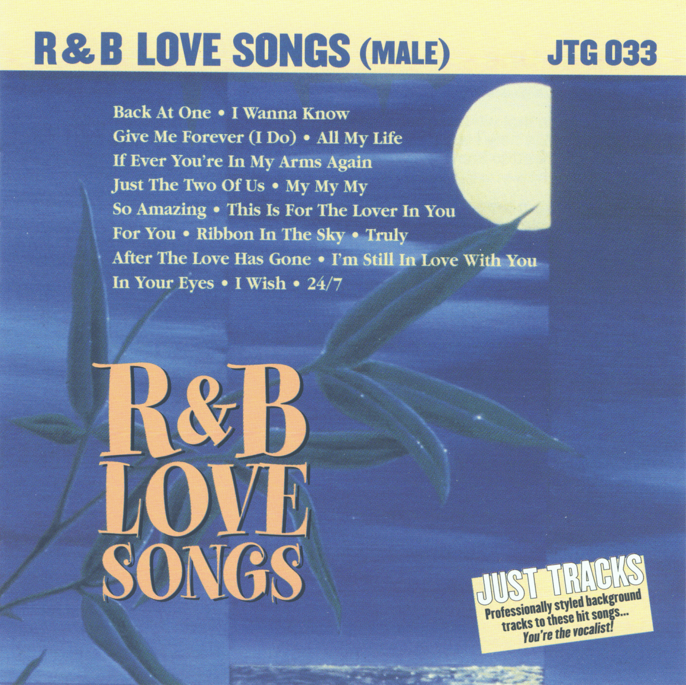 R&B LOVE SONGS (MALE)  Just Tracks  JTG 033