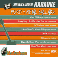 ROCK + METAL BALLADS  Singers Dream  SDK 9033
