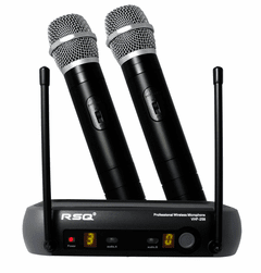 RSQ VHF-258 Professional Dual Channel VHF Wireless Microphone System