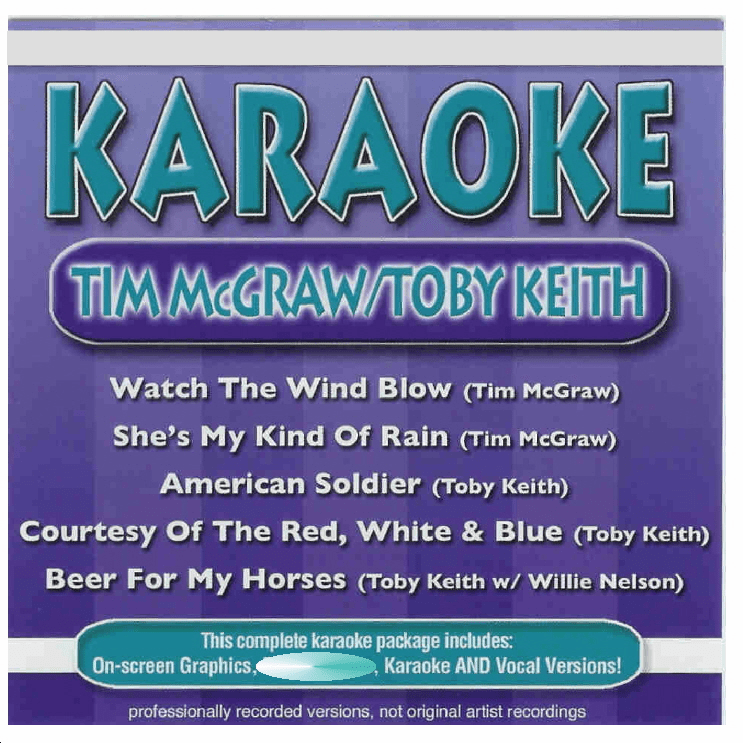 TIM McGRAW/TOBY KEITH   Karaoke   40713 2