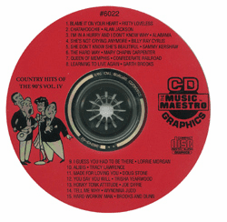 TOP COUNTRY HITS OF THE 90�S Vol. IV     Music Maestro    MM G6022