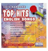 TOP HITS ENGLISH SONGS 44    U Best   CDGA 044