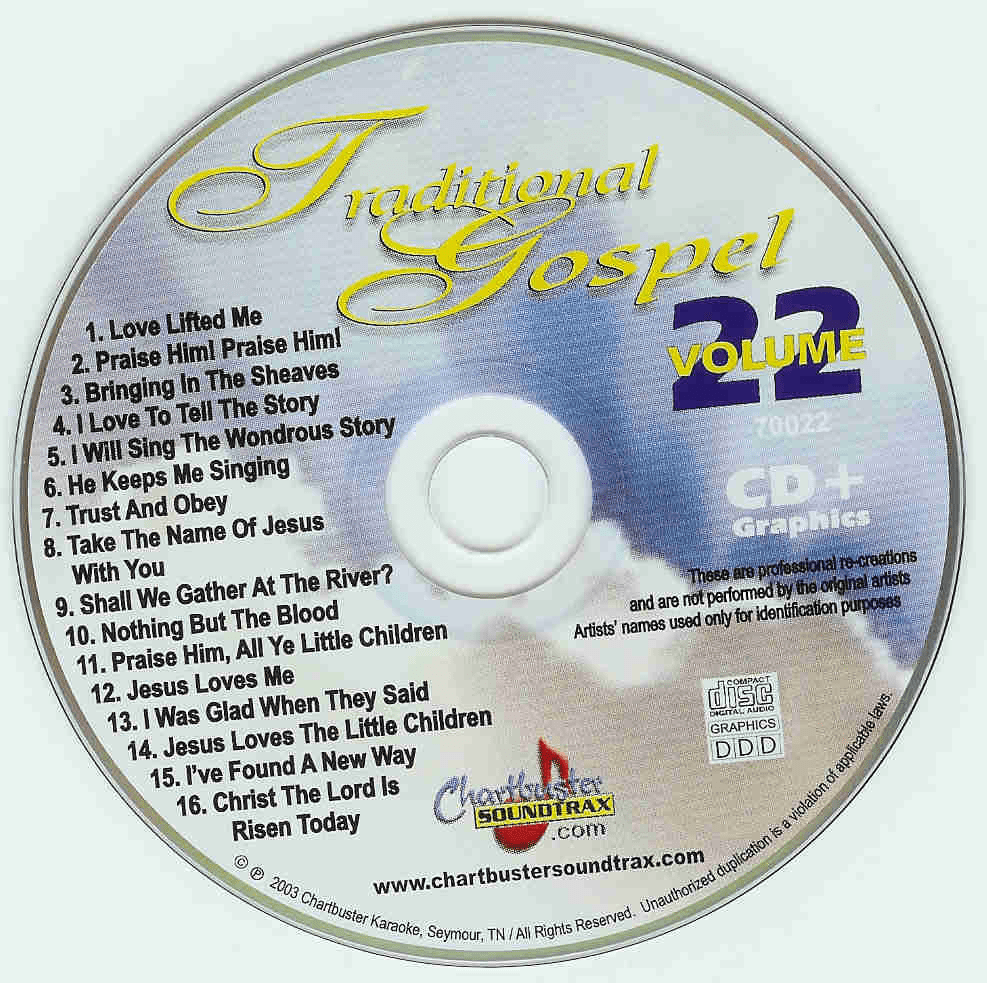 TRADITIONAL GOSPEL CDG CB70022 CHARTBUSTER GOSPEL