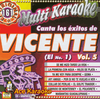 VICENTE (EL NO. 1) VOL. 5     Multi Karaoke    MK 161