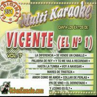 VICENTE (EL No. 1) Vol. 7   Multi Karaoke   MK 251