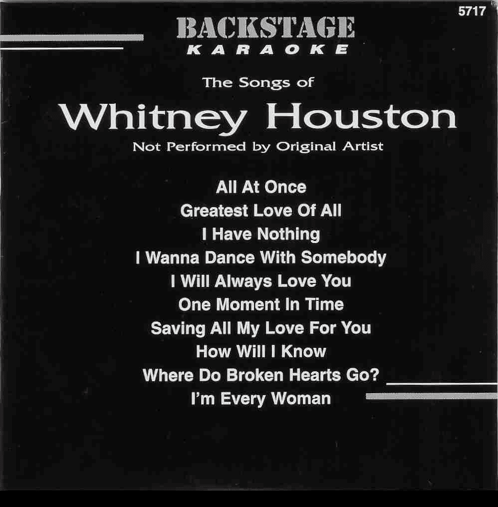 WHITNEY HOUSTON   Backstage  B 5717