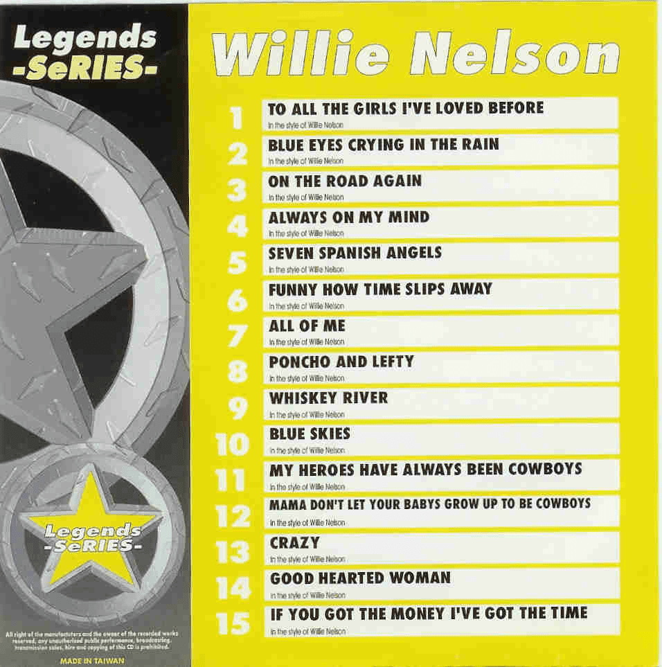 WILLIE NELSON      Legends Series   LG  031