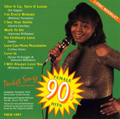YOU SING CONTEMPORARY FEMALE HITS     Pocket Songs  PSCD  1087