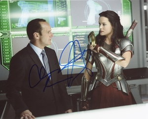 Clark Gregg & Jaimie Alexander Signed 8x10 Photo - Video Proof
