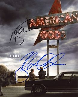 Neil Gaiman & Ricky Whittle Signed 8x10 Photo
