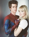 Andrew Garfield & Emma Stone Signed 8x10 Photo