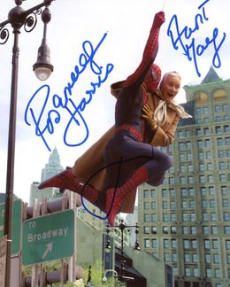 Tobey Maguire & Rosemary Harris Signed 8x10 Photo