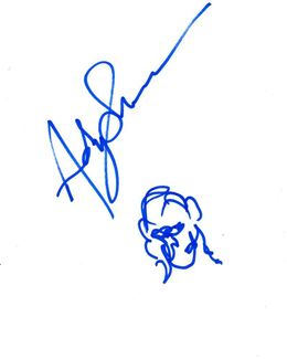 Andy Serkis Signed 8.5x11 Sketch