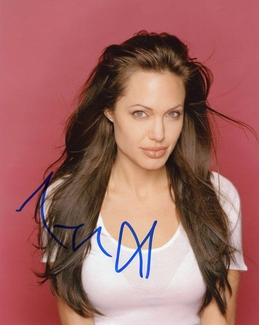 Angelina Jolie Signed 8x10 Photo