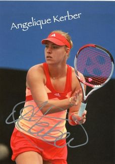 Angelique Kerber Signed 4x6 Photo