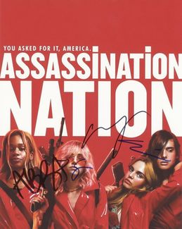 Assassination Nation Signed 8x10 Photo
