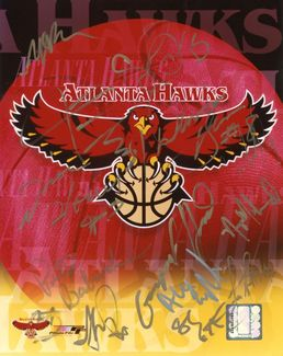 Atlanta Hawks Signed 8x10 Photo